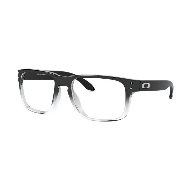 OAKLEY HOLBROOK RX OX8156 0656 56 POLISHED BLACK CLEAR FADE